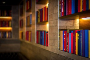 Bookshelves Denver Bar